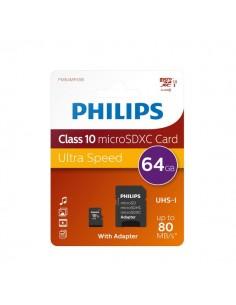 Flash Memory Card Micro Philips - 64GB - Micro SDXC Class 10 - PHMSDMA64GBXCCL10