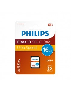 Flash Memory Card Philips - 16GB - SDHC Class 10 - PHSD16GBHCCL10