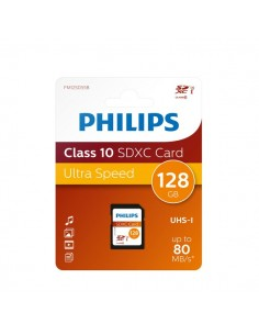 Flash Memory Card Philips - 128GB - SDXC Class 10 - PHSD128GBXCCL10