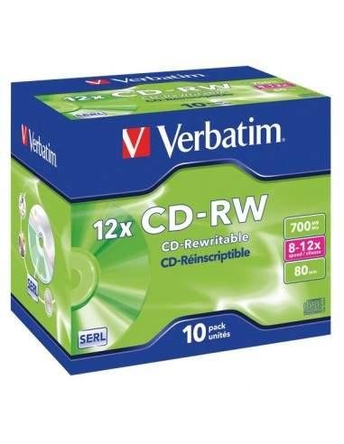 CD Verbatim Verbatim - CD-RW - Jewel case - 12x - 43148 (conf.10)