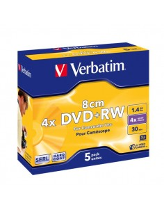 DVD Verbatim - DVD+RW - 1,4 Gb - 2,4x - Mini DVD 8 cm - Slim case - 43565 (conf.5)
