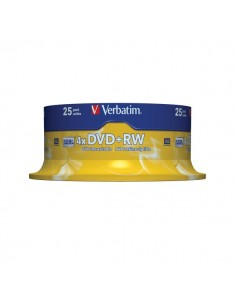 DVD Verbatim - DVD+RW - 4,7 Gb - 4x - Spindle - 43489 (conf.25)