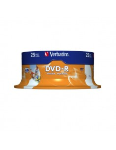 DVD-R Verbatim 4,7 Gb - 16x - Spindle - 43522 (conf.25)