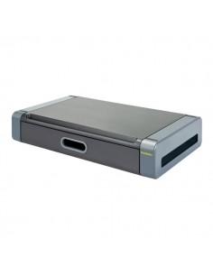 """Supporto monitor deluxe con cassetto Kineon - 24"""" / 10 kg - nero/grigio - MS-1002G"""