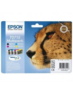 Originale Epson inkjet conf. 4 cartucce ghepardo Durabrite Ultra T0715 - n+c+m+g - C13T07154012