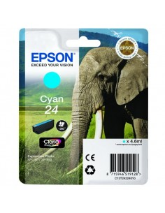 Originale Epson inkjet cartuccia elefante Claria Photo HD 24 - 4,6 ml - ciano - C13T24224012