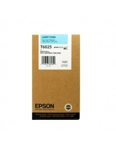 Originale Epson inkjet cartuccia ink pigmentato ULTRACHROME K3 T6025 - 110 ml - ciano chiaro - C13T602500
