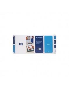 Originale HP inkjet testina di stampa dye + dispositivo di pulizia 80 - ciano - C4821A