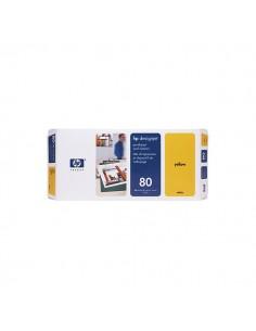 Originale HP inkjet testina di stampa dye + dispositivo di pulizia 80 - giallo - C4823A