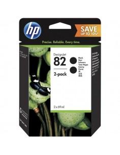 Originale HP inkjet conf. 2 cartucce 82 - 69x2 ml - nero - P2V34A