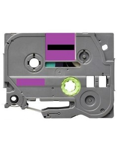 Label color Black-Pastel Purple 12mmX5m for Brother P-Touch