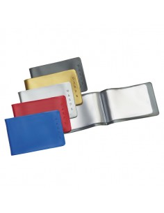 Busta Porta Cards 8,5X5,4 02/7440 Pvc Col.Assortiti Favorit Pvc - 100460170 - (conf. 25)