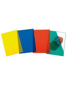 Conf. 50 Cartelline A L 22X30 Pratic 78C/15 Rosso Ppl 01/0040 Favorit - 100460006