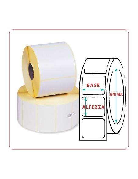 Etichette adesive in rotoli - f-to. 40X60 mm (bxh) - Vellum