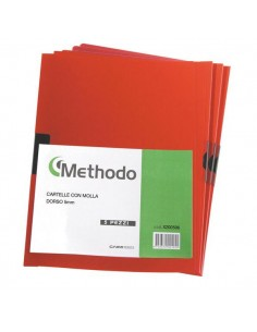 Cartellina Pvc C/Molla Dorso 5 Rosso Spring File 22X31 - X200506 - (conf. 5)