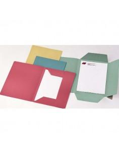 Conf. 50 Cartelline 3 Lembi Rosso S/Stampa 200Gr - CG0111MLXXXAJ02