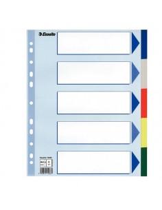 Separatore Neutro In Ppl 5 Tasti Colorati F.To A4 Maxi 24,5X29,7Cm Esselte - 15266