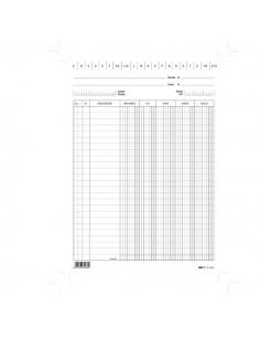 Conf. 100 Schede Verticali 24X17Cm Dare/Avere/Saldo/Iva E3426Bl Edipro - E3426BL