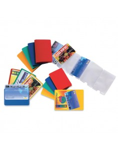 Conf. 5 Buste Porta Card 10 Color A 10 Tasche 5,8X8,7Cm Assort. - 48422090