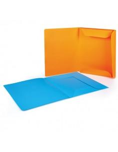 Conf. 12 Cartelline 3 Lembi 200Gr 25X33Cm Mix 6 Colori Brefiocart - 0205009