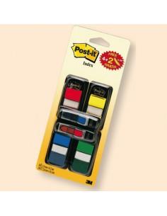 Conf. 200 Segnapagina Index 680 In 4 Colori Classici + 48 Mini Frecce - 67378.