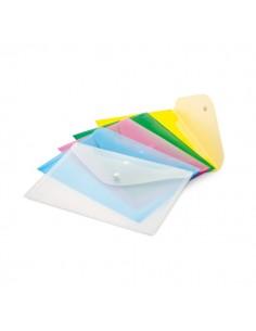 Set 5 Buste Con Bottone A4-33,5X23,5Cm Colori Assortiti Lebez Art.2192 - 2192-5