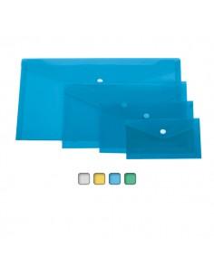 Busta Con Bottone A5-Orizz. 24X18,5Cm Colori Assortiti Lebez - 80194 - (conf. 12)