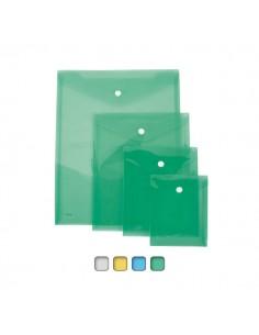 Busta Con Bottone A5-Vert. 18X25Cm Colori Assortiti Lebez - 80198 - (conf. 12)
