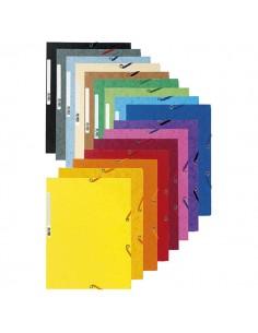 Cartella Con Elastico 24X32Cm Mix 10 Colori Cartoncino Lustre' 425Gr - 55500E - (conf. 50)