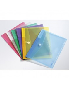 Set 12 Buste Forate Ppl Con Velcro Colori Assortiti Tarifold - B510229