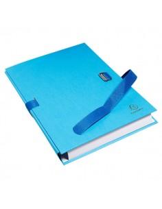 Cartella Dorso Estensibile Azzurro Con Alette In Carta Exacompta - 223220E - (conf. 10)