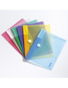 Set 6 Buste Pp Con Velcro 25X13,5Cm Colori Assortiti - B510279