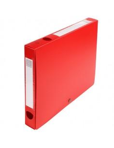 Scatola Archivio Box Con Bottone Rosso F.To 25X33Cm D 40Mm Exacompta - 54635E