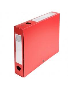 Scatola Archivio Box Con Bottone Rosso F.To 25X33Cm D 60Mm Exacompta - 59635E