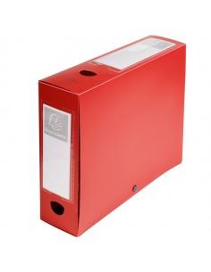 Scatola Archivio Box Con Bottone Rosso F.To 25X33Cm D 80Mm Exacompta - 59835E