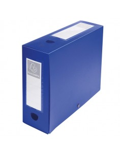 Scatola Archivio Box Con Bottone Blu F.To 25X33Cm D 100Mm Exacompta - 59932E