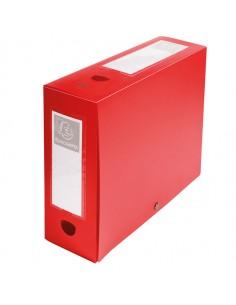 Scatola Archivio Box Con Bottone Rosso F.To 25X33Cm D 100Mm Exacompta - 59935E