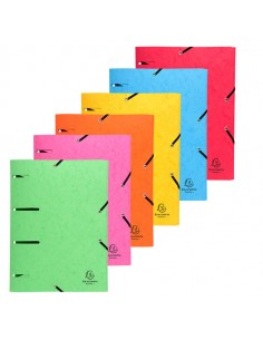 Cartellina 3 Lembi Forata C/Elastico Colori Ass. Cartoncino Lustre' Punchy - 447100E - (conf. 25)
