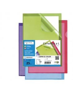 Conf. 25 Cartelline A L Azzurro Capri 61 Color Sei Rota - 26316103