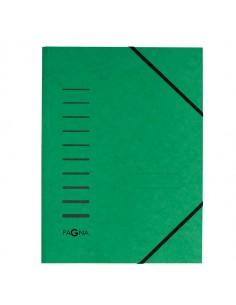 Cartellina Verde Con Elastico In Cartoncino A4 Pagna - 24001-03