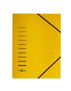 Cartellina Giallo Con Elastico In Cartoncino A4 Pagna - 24001-05