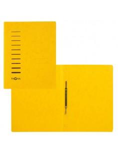Cartellina Gialla In Cartone Con Pressino Fermafogli A4 Pagna - 28001-05