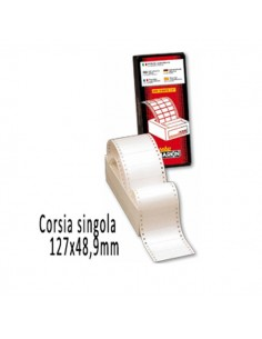 Scatola 3000 Etichette Adesive S615 127X48,9Mm Corsia Singola Markin - 200S615