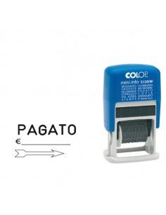 Timbro Mini Polinomio S120/W 12Diciture 4Mm Autoinchiostrante Colop - S120/W-BLS