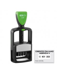Timbro Office S360 Datario Personalizzabile Autoinchiostrante 30X45Mm Colop - S360