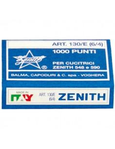 Scatola 1000 Punti Zenith 130/E S100 (6/4) In Acciaio Naturale - 0311301431 - (conf. 100)
