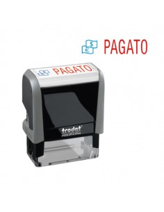 "Timbro Printy Office Eco 47X18Mm ""Pagato"" Trodat - 43265."