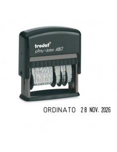 Timbro Printy Eco 4817 Datario+ Polinomio 3,8Mm Autoinchiostrante Trodat - 80363.