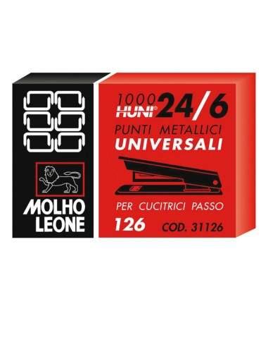 Confezione da 1000 Pezzi Centra 242077 Punti Metallici 24//6