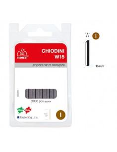 Chiodini S/Testa W15 In Blister Da 2000 C. Ro-Ma - 1130820
